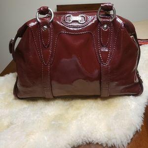 Michael Kors Burgundy Patent Leather Shoulder Bag